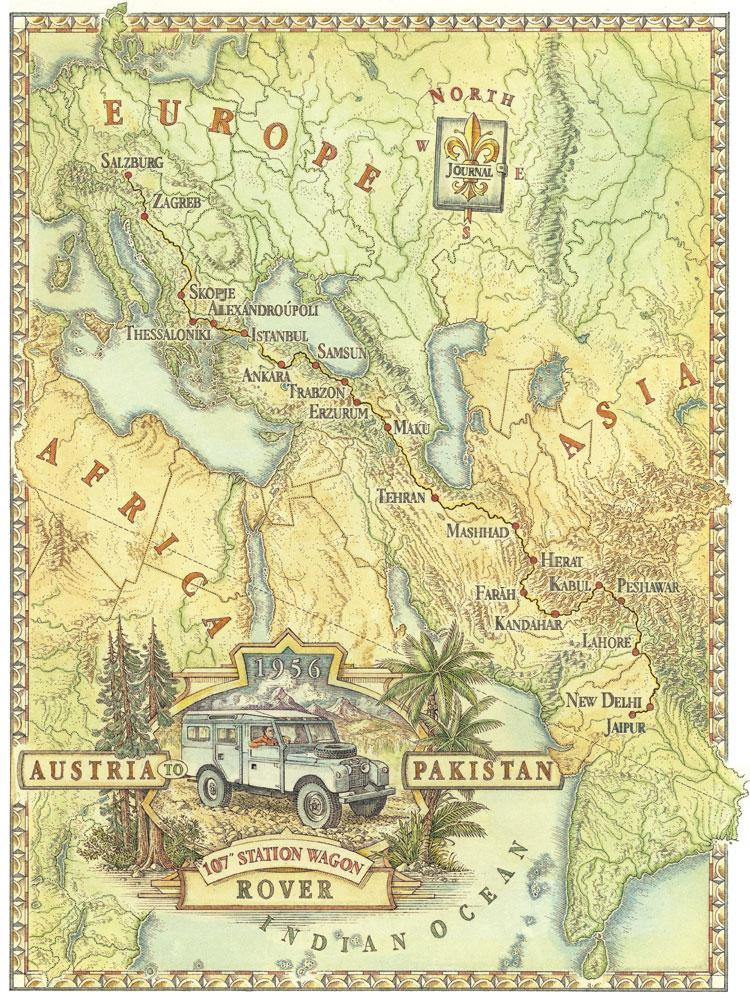 Dave Stevenson map illustration for University of Chicago  Jen