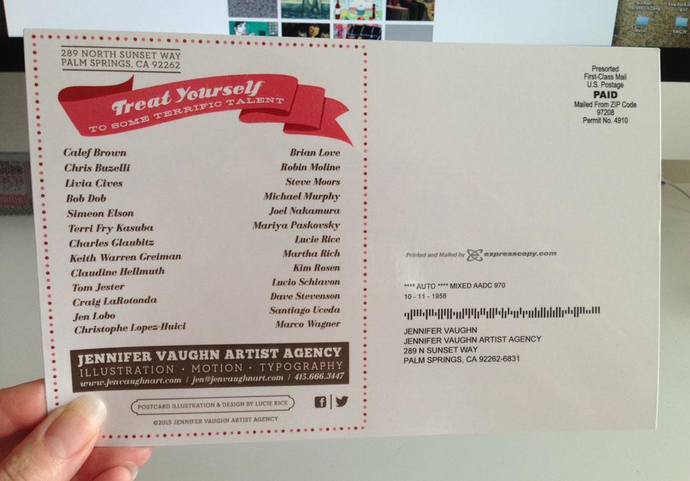end of summer agency promo card jen vaughn artist agency