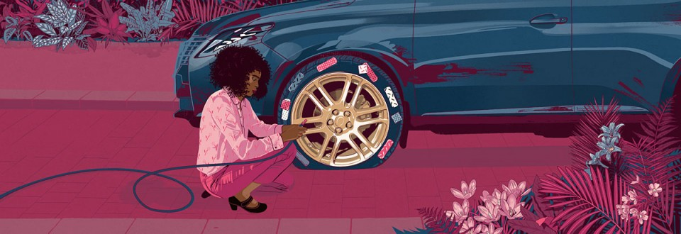 livia-cives-flat-tire