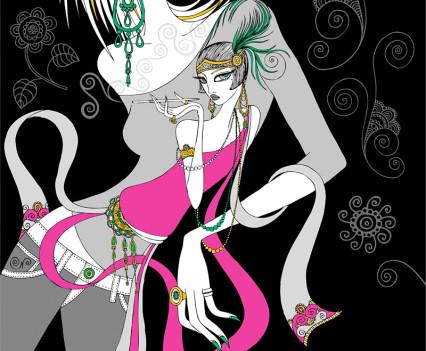 mariya-paskovsky-retro-fashion-girl-illustration