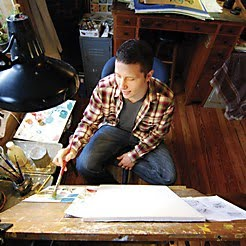 chris buzelli in his studio