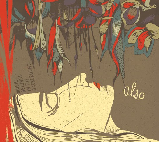 Kim Rosen illustrates Also's latest album cover | Jen Vaughn Artist