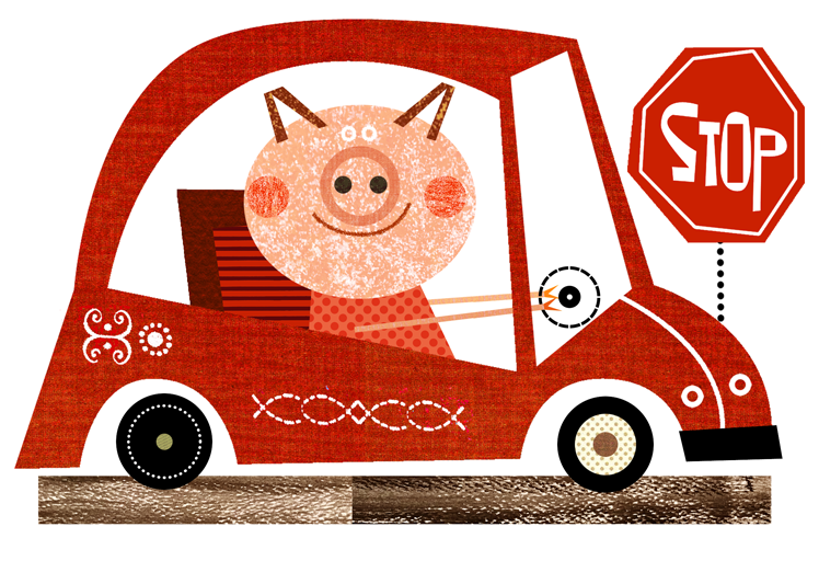 Pig illustrations by various artists represented by Jennifer Vaughn Artist Agency