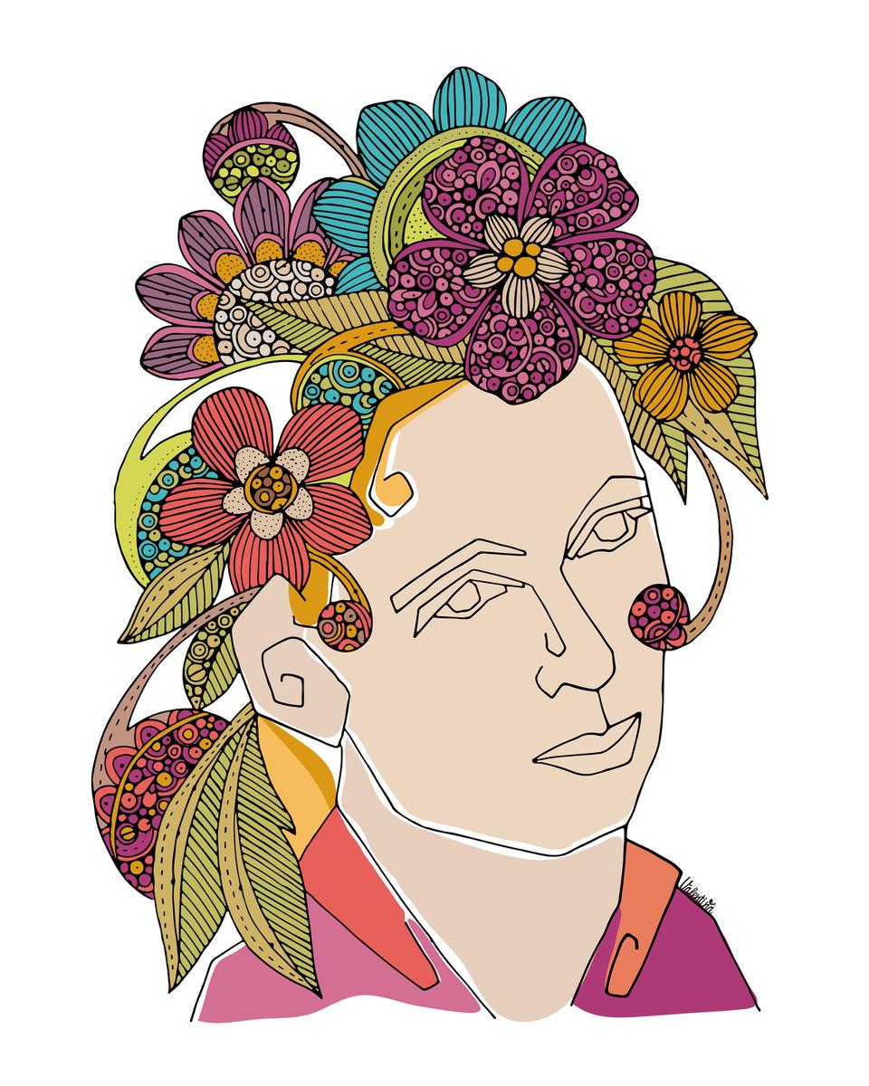 valentina harper jane goodall portrait illustration