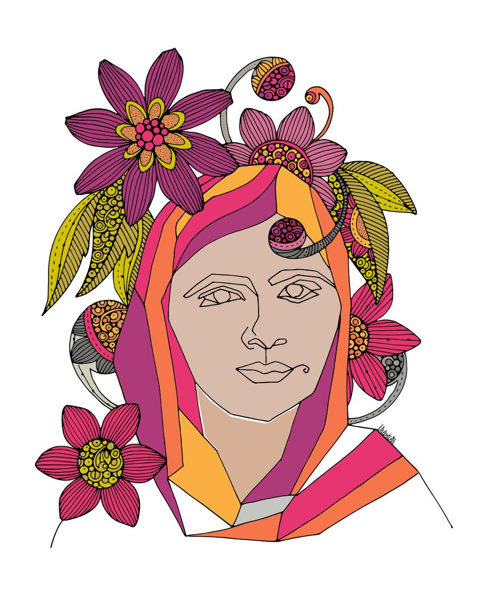 valentina harper malala portrait illustration
